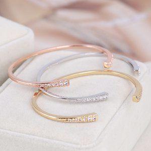 Henri Bendel Zircon Open Fashion Bracelet